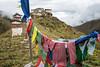 Prayer flags and Lingshi dzong - Thimphu District - Snowman Trek - Bhutan (PascalBo) Tags: nikon d500 asie asia southasia asiedusud drukyul drukgyalkhap bhutan bhoutan འབྲུག་ཡུལ། འབྲུག་རྒྱལ་ཁབ་ snowman trek trekking hike hiking lunana thimphu himalaya himalayas jigmedorjinationalpark buddhism bouddhisme religion outdoor outdoors lingzhi lingshi pascalboegli