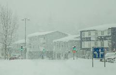 Akureyri in March (joningic) Tags: winter akureyri march town snow snowstorm strandgata iceland