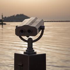 Bronze Binoculars (mfatic) Tags: coast tourist eyes water metal environment binoculars kuşadası asiaminor sea aydın turkey tr syncerror