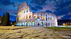 Colosseum in Rome (Dibrova) Tags: rome colosseum italy dusk sunset sunrise night coliseum landmark roma twilight europe architecture roman colosseo amphitheater gladiator arena stadium stone