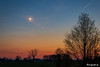 Moon Crescent & Venus at Evening Sky (astrofan80) Tags: astronomie bach baum dämmerung himmel hyaden landschaft mond mondsichel plejaden spreewald venus