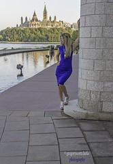 Rosie - lean into view. (gregoryscottclarke photography) Tags: rosanneneddo museumofcanadianhistory pink black blue boat stone stairs pathway summer hat
