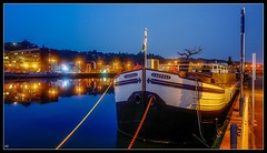 Boat in the Night (YᗩSᗰIᘉᗴ HᗴᘉS +14 000 000 thx) Tags: boat night bluehour hensyasmine namur belgium europa aaa namuroise look photo friends be wow yasminehens interest intersting eu fr greatphotographers lanamuroise