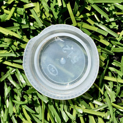 HMM ~ Plastic edition (karma (Karen)) Tags: macros waterbottletop turffield texture macromondays plastic hmm iphone