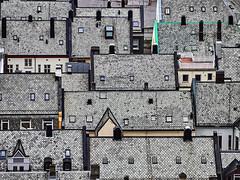 Slate roofs (Ulrich Neitzel) Tags: ålesund dach grau grey mzuiko40150mm norge norway norwegen olympusem1 roof schiefer slate