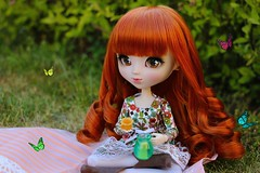 Picnic (Osana Rose) Tags: pullip callie twins doll obitsu groove picnic butterflies