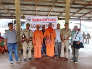 Ramakrishna Mission Imphal - Phase 1 of Flood Relief on 25.06.2018