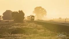 Goldenrod Sunrise (Erik C. Lindgren) Tags: railway railroad trains train amtrak californiazephyr highplains colorado coloradorailroads coloradotrains