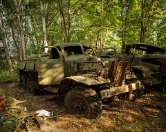 Clean Up Trucks (harvey.doane) Tags: ukraine chernobyl nuclear truck radioactive forrest wood