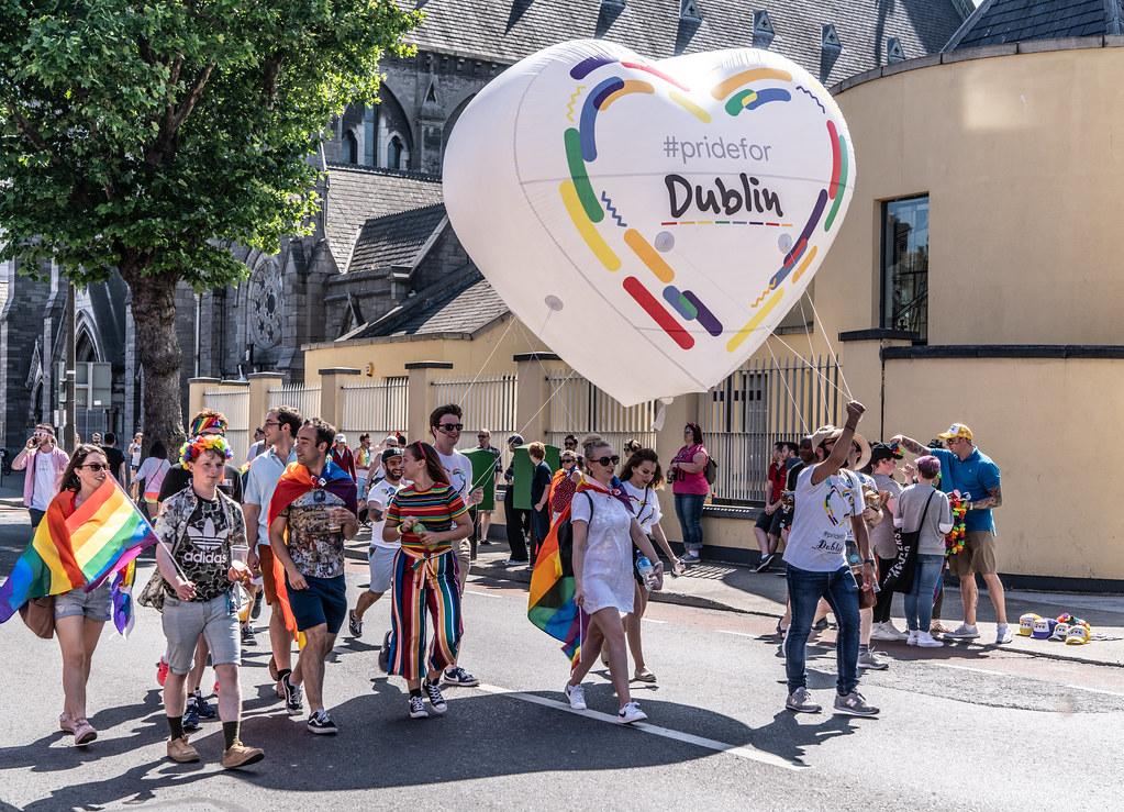 ABOUT SIXTY THOUSAND TOOK PART IN THE DUBLIN LGBTI+ PARADE TODAY[ SATURDAY 30 JUNE 2018] X-100249