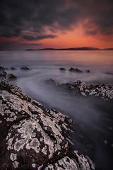 Stopped Flow (SkyeWeasel) Tags: scotland skye landscape seascape sea broadfordbay bay water dawn lichen rock