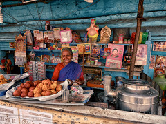 Faces and Happy phases. (Prabhu B Doss) Tags: prabhubdoss fujifilm gfx50s gf3264mm streetphotography travelphotography tea shop chai pettyshop oldwoman paati grandma cafe india