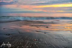 New Year Sunset (jeandayphotography.com) Tags: centralcoast pacific beach california clouds coast color evening jeanday jeandayphotography landscape ocean pentax reflections sand santabarbaracounty sea shore sunset surf usa water waves santacruzisland