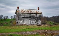Sink's Grove House (Bob G. Bell) Tags: abandoned sinksgrove wv monroe house sky clouds grass bobbell xt1 fujifilm