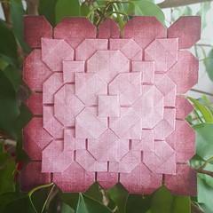 Hydrangea-Tessellation von Fujimoto (musitine) Tags: origami hydrangea tessellation fujimoto paperfolding paperart