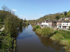 The river Severn (daveandlyn1) Tags: river severn riversevern reflection property houses shops smartphone cameraphone pralx1 huawei