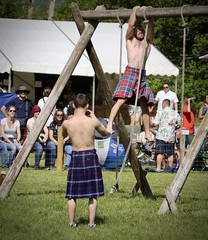 Obstacle Course (FotoFling Scotland) Tags: obstaclecourse luss kilt paulcraig deanwhyte wrestlers shirtless