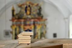AT THE ORGAN GALLERY (LitterART) Tags: orgelempore heiligenwasser nikond800 steiermark österreich bücher books organgallery kirche church kainach gasthaus nikonfx