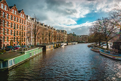 Sunlight on the Canal (ThePunkyScotsman) Tags: sunny sky canal amsterdam netherlands holland boat barge bright