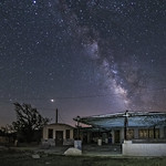 Milky Way Over A Somewhat Modern Ghost Town thumbnail