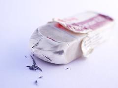 Wiped out (BeMo52) Tags: abrieb eraser macro macromondays makro radiergummi rubber waer