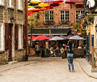 Floating Umbrellas over Rue de Cul-De-Sac