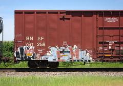 Jerms (quiet-silence) Tags: graffiti graff freight fr8 train railroad railcar art jerms a2m 4dc boxcar bnsf bnsf761258