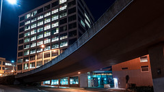 Off Ramp (llabe) Tags: buildings offramp nightlights street night downtown tacoma washington nikon d750