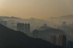 Shrouded in Fog (Lambert Chan's Photo Gallery) Tags: fog foggy sunrise cityscape buildings kowloonpeak