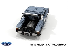 Ford Argentina - Ford Falcon 1991 (lego911) Tags: ford do argentina falcon 1991 1990s classic retro south america auto car moc model miniland lego lego911 ldd render cad povray