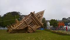 Fallen. (mcginley2012) Tags: sculpture cardboard art thepeoplesbuild giaf18 ireland