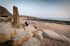 let your mind wander (ylemort) Tags: sea rockobject nature beach coastline people outdoors landscape sky men scenics stoneobject travel summer cliff oneperson vacations sunset tranquilscene famousplace everypixel canon canon5dmkiv audresselles