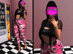 LOTD 494 .me pongo máscara y te robo. (Daphne Kyong - The Real Slim Shady) Tags: new pink black terobo ryca