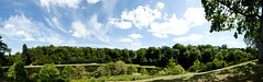 Fountains Abbey and Studley Royal (Simon Caunt) Tags: d800 nikond800 nikoncameras nikon nationalpark northyorkshire nationaltrust unesco park heritage 240700mmf28nikkor afsnikkor2470mmf28 panorama panoramic wideview widescreen wideformat widefieldpanorama oblong blue bluesky blueskies mrbluesky