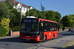 Abellio London 8167 (SN66WNU) on Route K3 to Kingston Vale, Robin Hood Way (hassaanhc) Tags: abellio alexander dennis enviro200 e200 e200mmc enviro200mmc