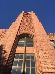 Beautiful brickwork on Roosevelt Middle School, San Francisco, opened in 1930. An Art Deco building designed by San Francisco architect Timothy Pflueger. (JoeGarity) Tags: arguelloblvd therichmond architecture timothypflueger artdeco roosevelt middleschool school sanfrancisco