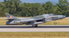 Hawker Siddeley Hunter T.68 HB-RVP Espace Passion - Clin d'Ailes Museum (William Musculus) Tags: aircraft spotting airport basel mulhouse freiburg bsl mlh eap lfsb euroairport hbrvp private hawker siddeley hunter t68 espace passion clin dailes museum musée