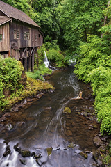 Never lose an opportunity of seeing anything beautiful, for beauty is God's handwriting… (ferpectshotz) Tags: cedarcreekgristmill gristmill cedarcreek waterfallmuseum woodland wa washington workingmill nationalregisterofhistoricplaces graingrindingmill lush green water creek stream river