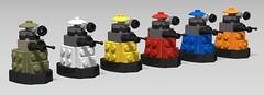 lego Paradigm daleks moc (+ WW2 dalek) (KaijuWorld) Tags: lego moc mod daleks doctorwho tardis exterminate bbc ldd