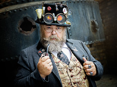 Time lord (Chris Tidman Photography) Tags: punk steam wee crafty folk blaenavon 2018 reenactments pipe