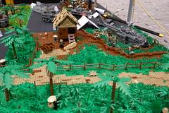 Battle of Bong Son (alex_bricks) Tags: lego vietnam war military battle viet cong huey rice field bbtb