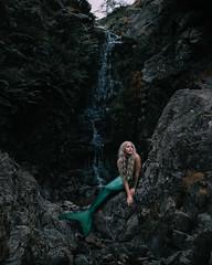 The Siren (Adam Bird Photography) Tags: adambirdphotography adambird siren mermaid waterfall rocks portrait tail fin green ariel disney fairytale conceptual story surreal