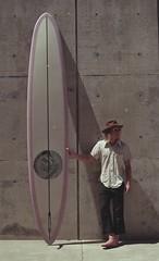 Kev and 11 feet of foam (Kevin Vanderzel) Tags: surfboard shape glass beauty pink longboard retro single fin design groovy style handmade handcrafted hand waves ocean love sea sky concrete australia italy california socal