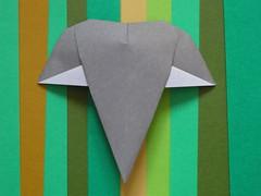 Elephant head (Mélisande*) Tags: mélisande origami elephant