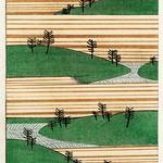Landscape illustration from Bijutsu Sekai (1893-1896) by Watanabe Seitei, a prominent Kacho-ga artist. Digitally enhanced from our own original edition. thumbnail