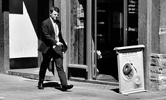 Rise And Shine ! (jaykay72.) Tags: london uk street candid streetphotography cornhill stphotographia blackandwhite bw