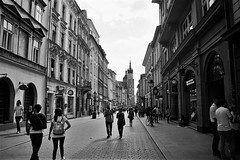 Krakow street scene 1 (tomwilliamevans11) Tags: auschwitz blackandwhite birkenau neverforget holocaust poland krakow culture history k1000 contrast film pentax memorial remember