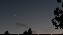 Venus and Crescent Moon (davetefft) Tags: nikon d610 timelapse moon venus star gazing