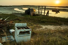 Barling Hall Creek (daveknight1946) Tags: essex barlinghallcreek barling water mud fishingboat fishingboatwyn cooker derelict sunrise metal