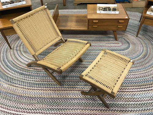 Danish Modern Rope Chair and Foot Rest ($504.00)